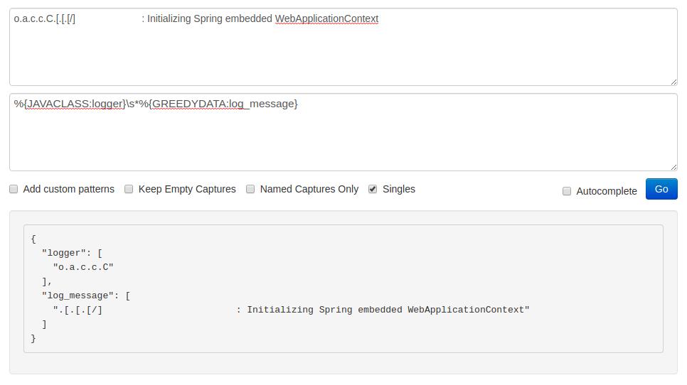 error in parsing logger screenshot