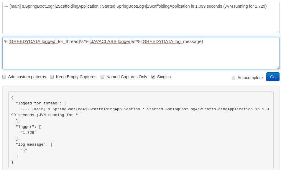 error in parsing thread screenshot