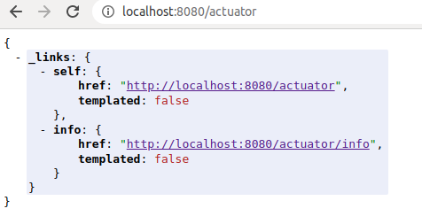 Monitor Spring Boot health with selected Actuator endpoint