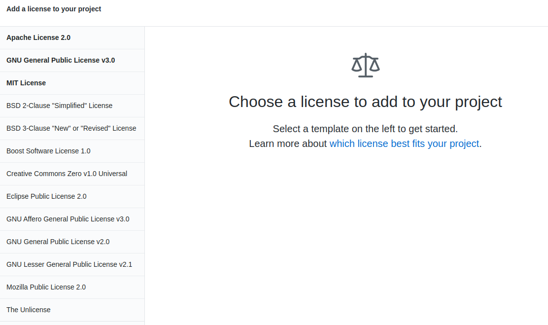 list of open source licenses