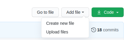 Add a new file to a repository using the the GiHub UI