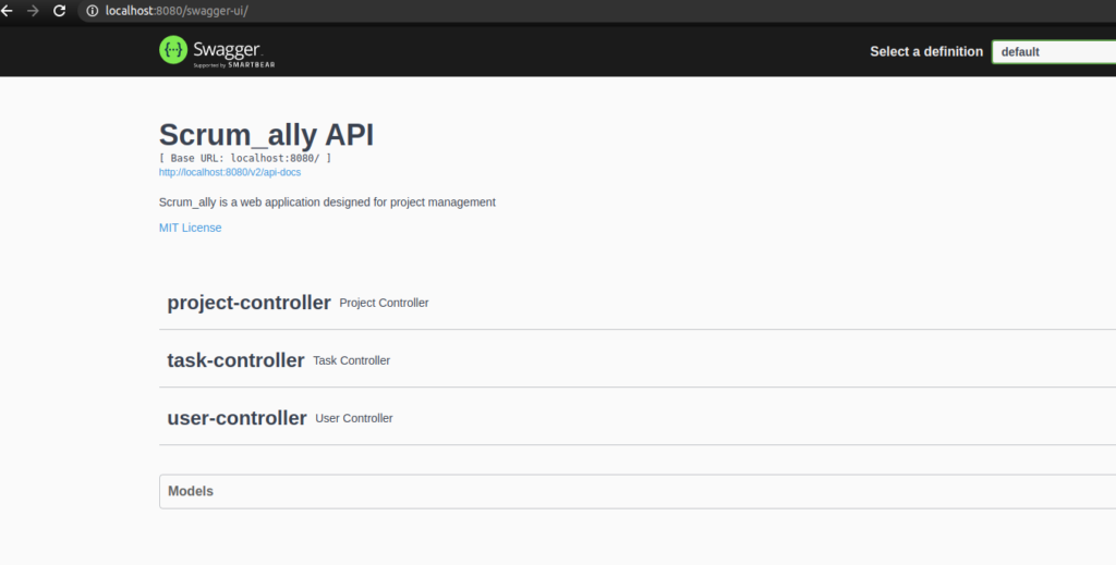 documentation in swagger ui